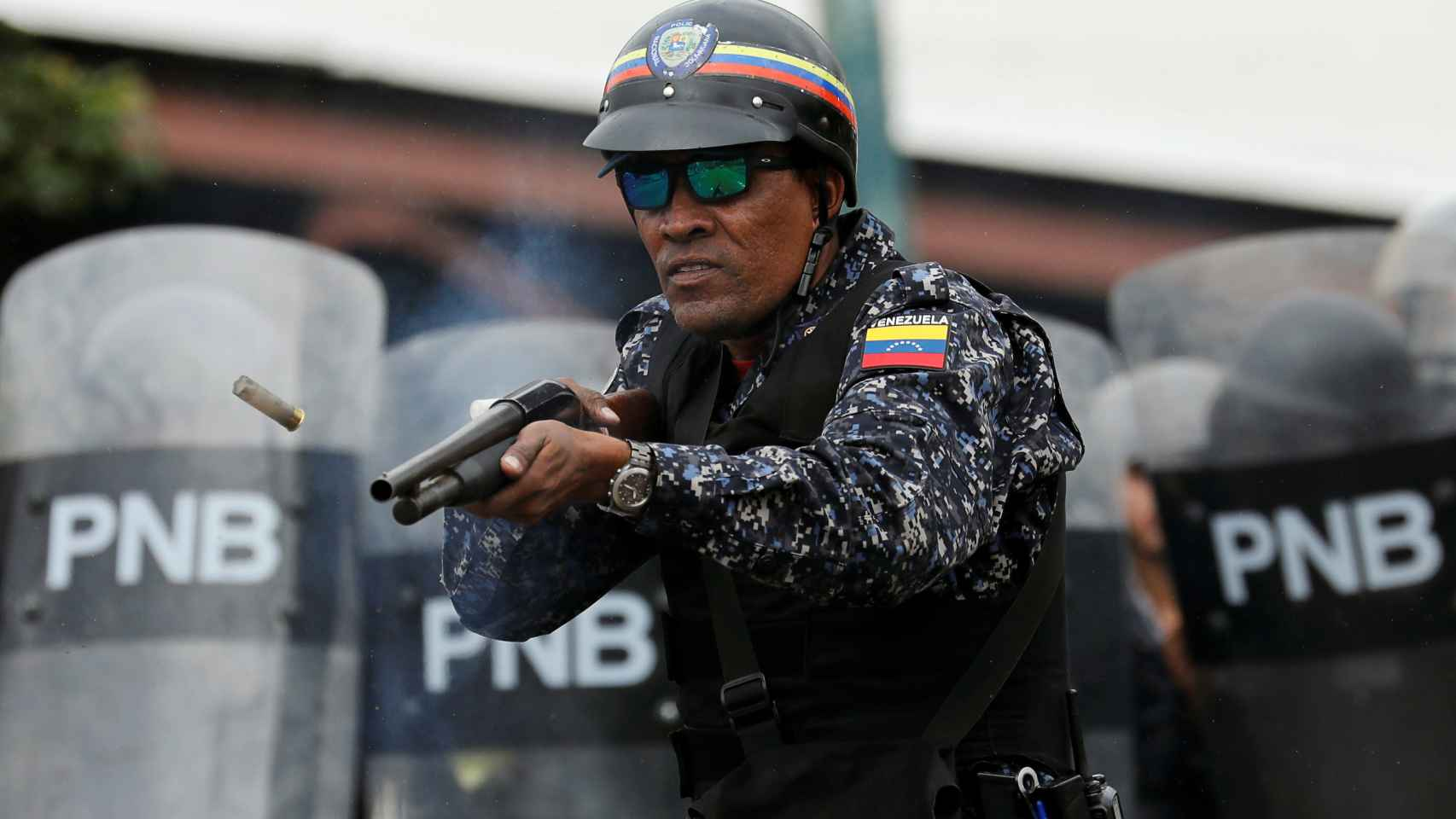 Multitudinaria protesta en Caracas contra el régimen de Maduro.