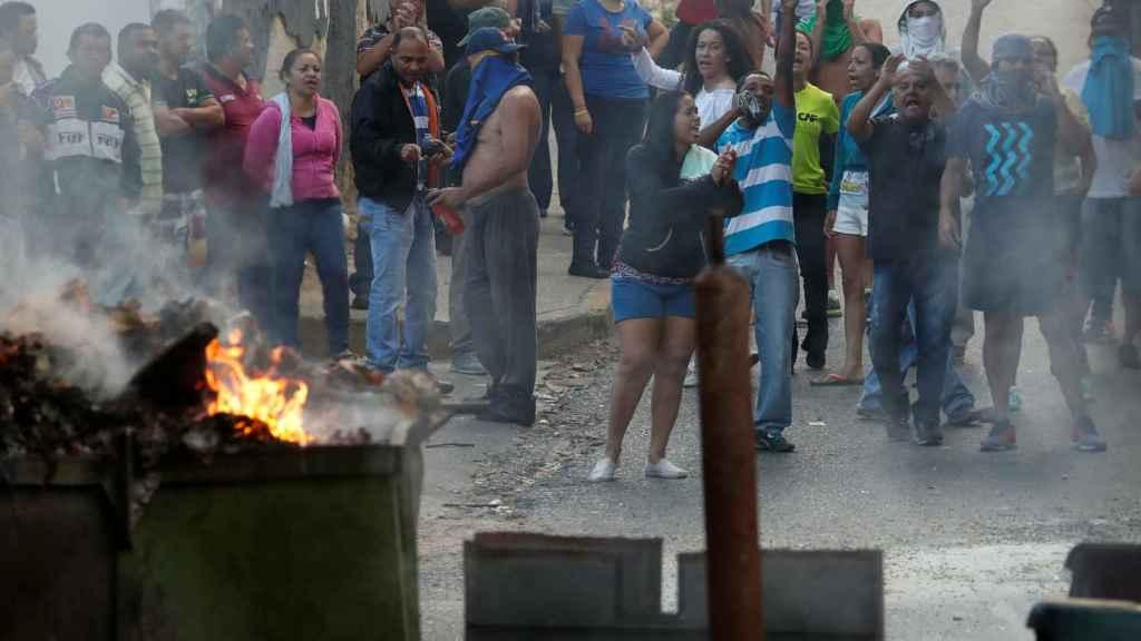 Una de las protestas antigubernamentales en Caracas.