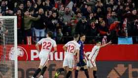 Gol del Sevilla ante el Barcelona