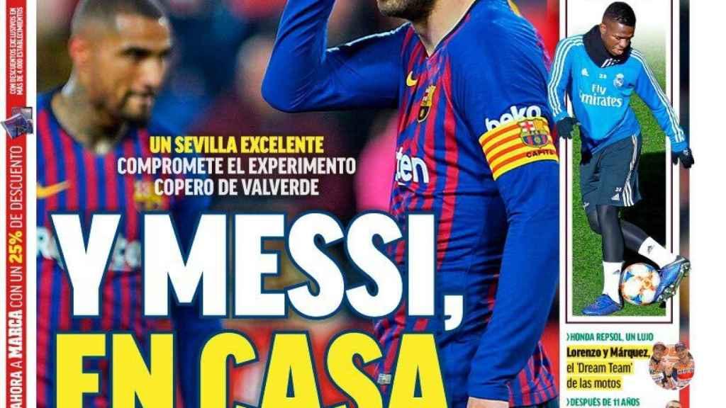 Portada del Diario Marca (24/01/2019)
