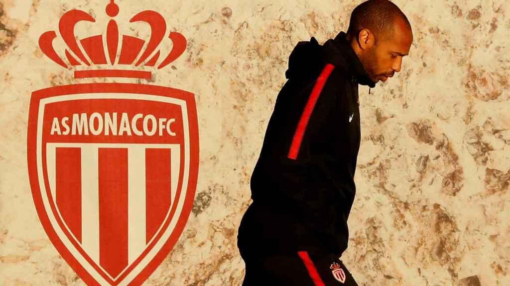 Thierry Henry, durante un entrenamiento del Mónaco