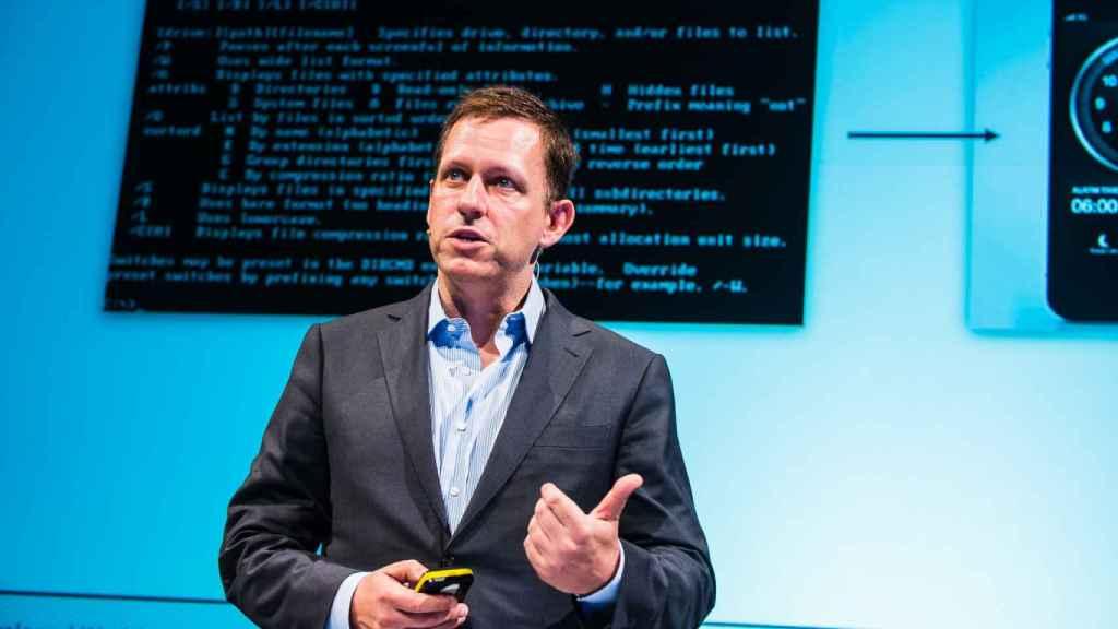 Peter Thiel en el Hy! Summit.