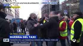 Agreden a un reportero de 'Espejo Público' que cubría la huelga de taxis