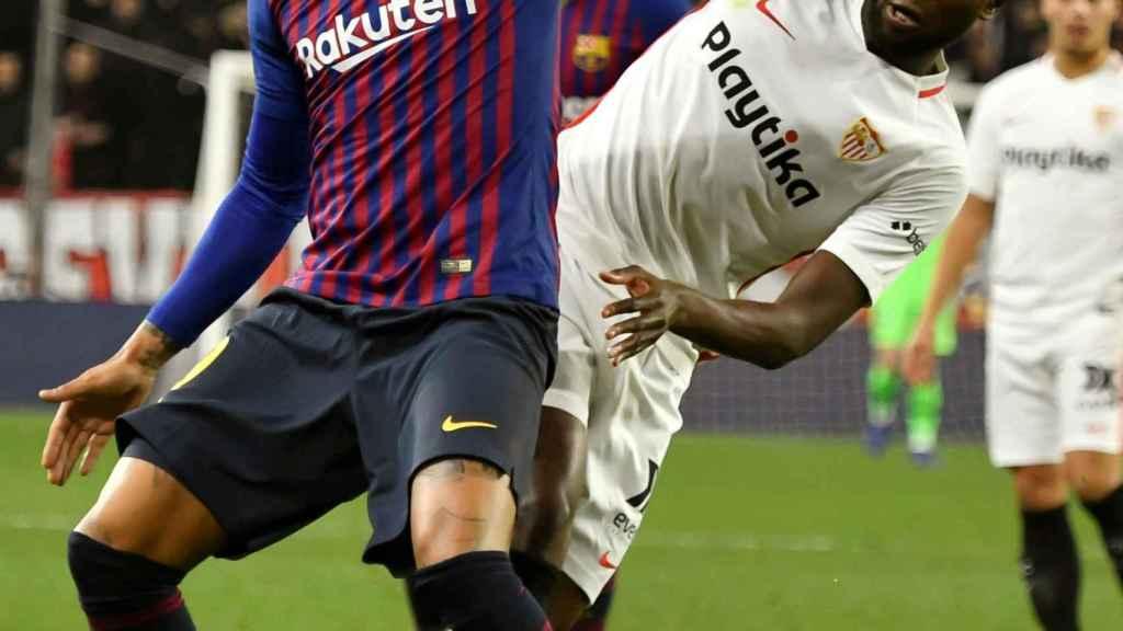 Boateng, en el partido ante el Sevilla