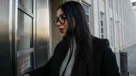 Emma Coronel Aispuro, la mujer del Chapo, a su llegada al juzgado en Brooklyn.