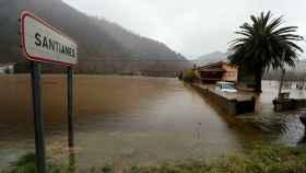 Una inundación en Santianes.