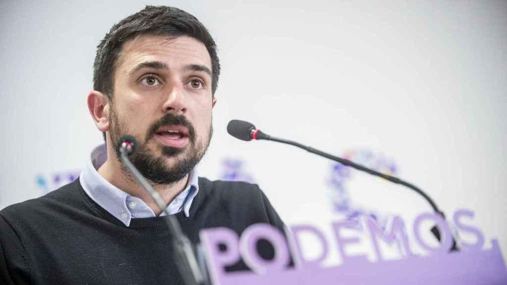 Ramón Espinar durante una comparecencia.
