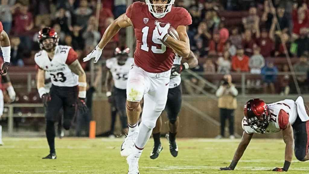 Arcega-Whiteside, durante un partido. Foto: Twitter (@StanfordFball)