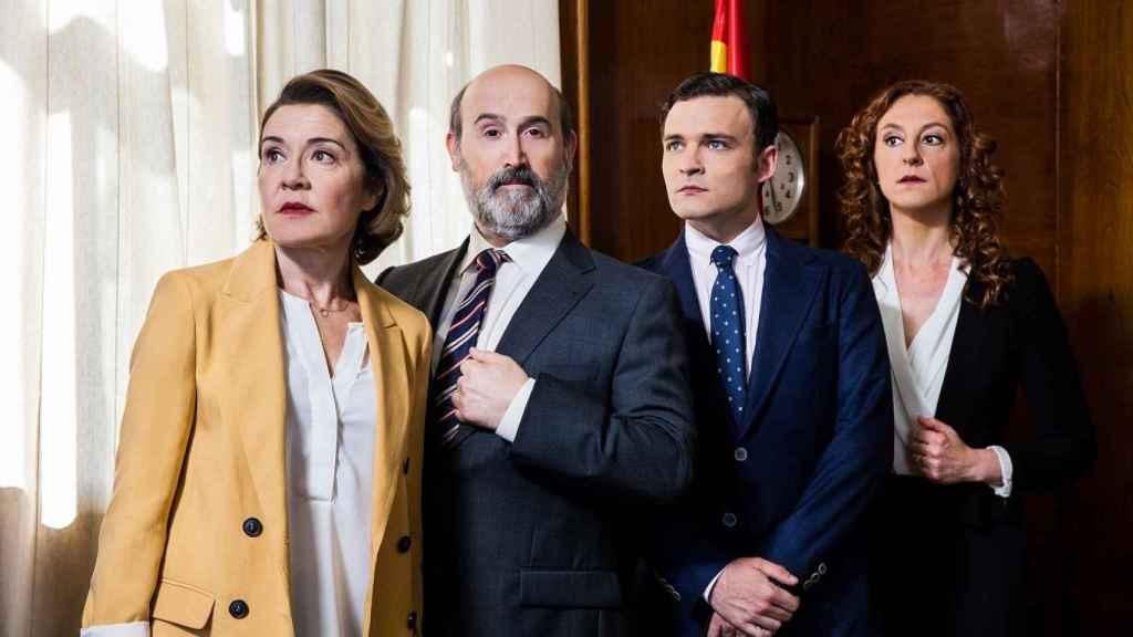María Pujalte, Javier Cámara, Adam Jezierski y Nuria Mencía.