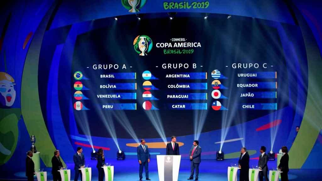 Así quedan definidos los grupos de la Copa América de Brasil 2019