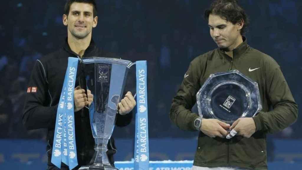 Djokovic y Nadal en el ATP Finals de 2013. Foto: novakdjokovic.com