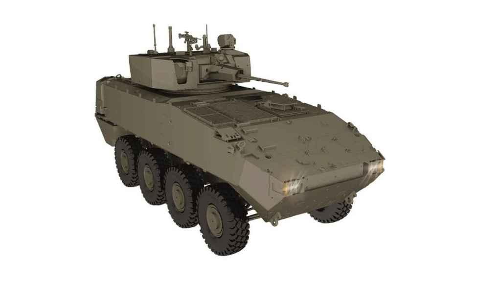 Prototipo del 8x8 dragón que el Ejército incorporará en sus brigadas.