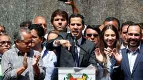 Guaidó, durante su discurso este viernes en Caracas