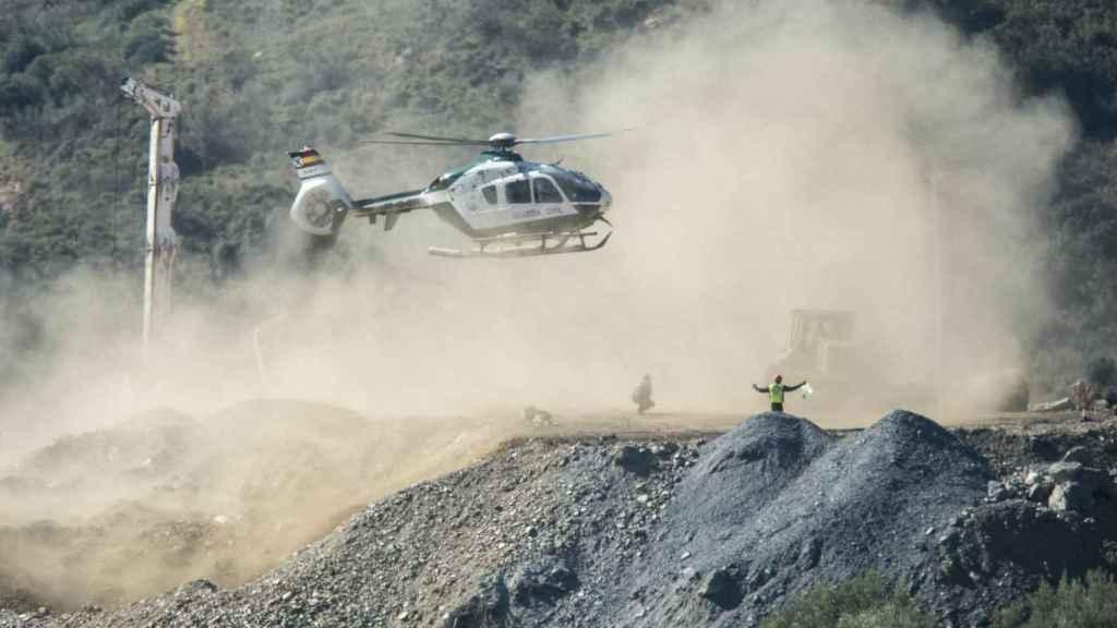 Helicóptero de la Guardia Civil encargado de trasladar a Julen