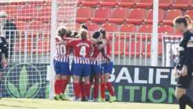 Atlético de Madrid Femenino- Málaga Femenino. Foto Twitter: (@AtletiFemenino)