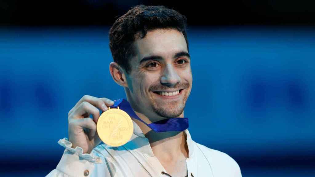 Javier Fernández, con su séptima medalla de oro en el Campeonato de Europa