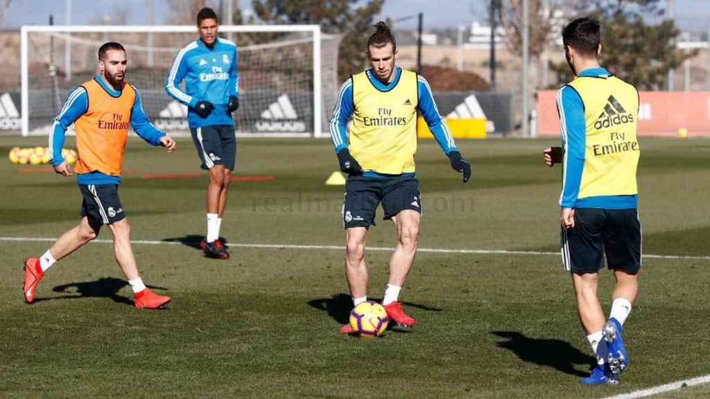 Bale se entrena en Valdebebas