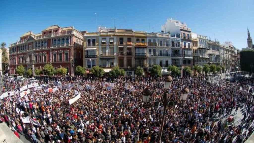 Manifestación para que se repita el juicio de Marta del Castillo, Sevilla.