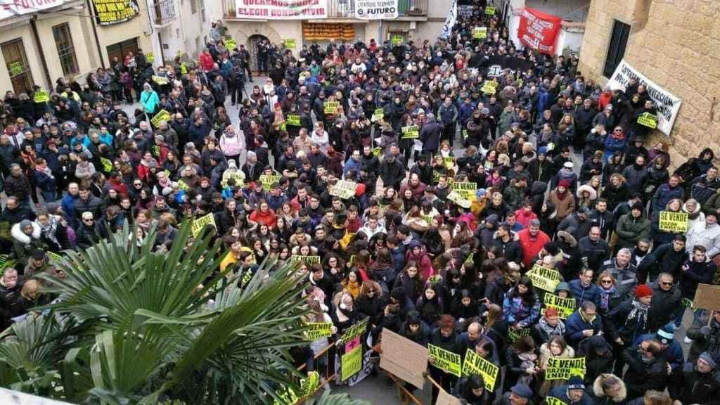 Imagen de la manifestación en Andorra de esta semana.