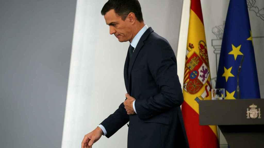 Pedro Sánchez, al acabar su comparecencia sobre la crisis de Venezuela.