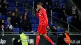 Varane, en un partido del Real Madrid