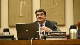 El presidente de la Autoridad Independiente de Responsabilidad Fiscal, José Luis Escrivá, este martes en el Congreso.