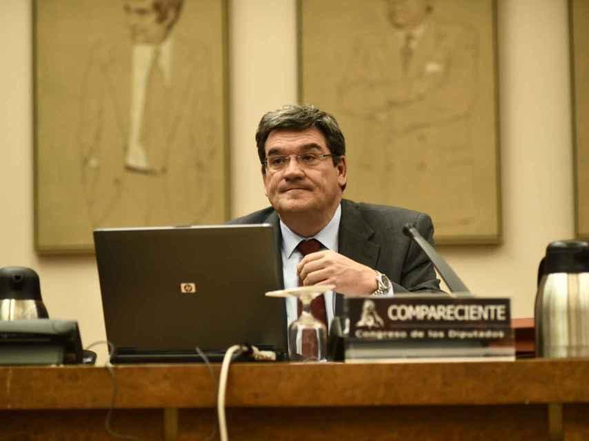 El presidente de la Autoridad Independiente de Responsabilidad Fiscal, José Luis Escrivá, en el Congreso.