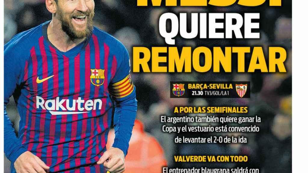 Portada del Diario Sport (30/01/2019)