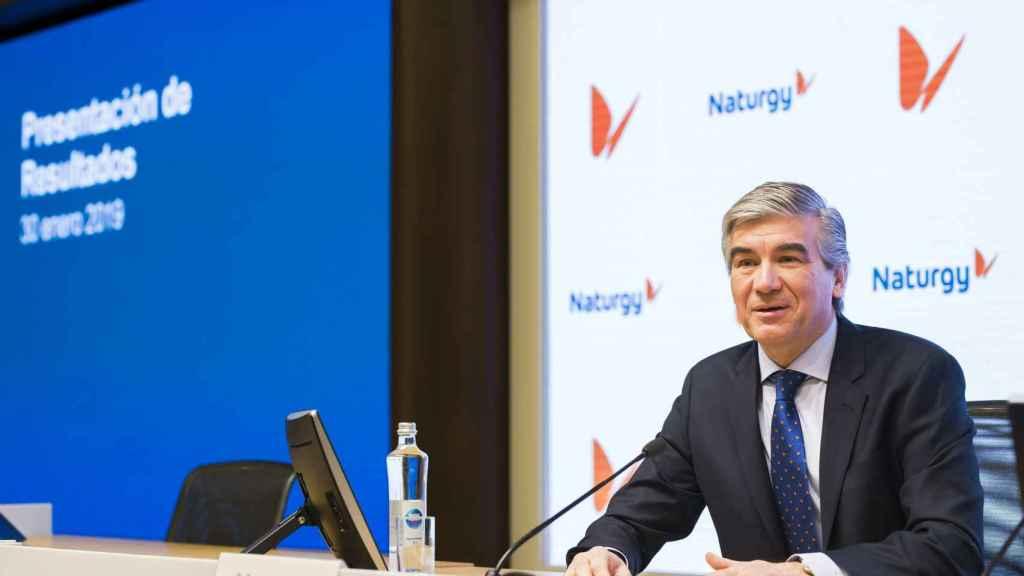 Francisco Reynés, presidente de Naturgy, durante la presentación de resultados.