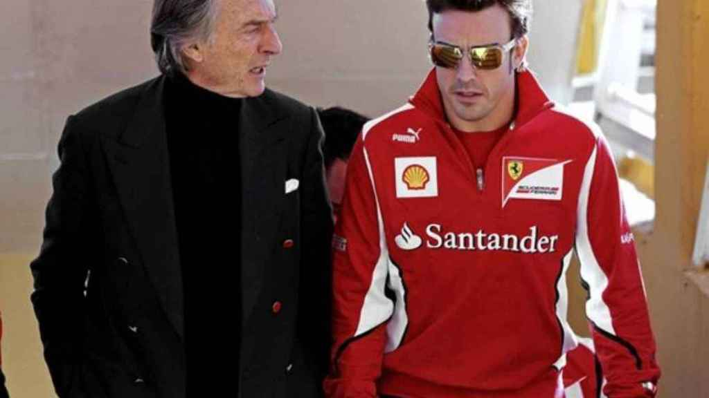 Fernando Alonso y Luca Di Montezemolo durante la etapa de ambos en Ferrari