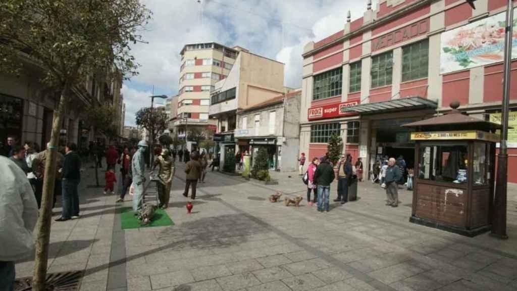 Una calle de O Calvario, un barrio de Vigo.