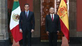 Pedro Sánchez, junto a Andrés Manuel López Obrador, presidente de México.
