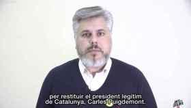 Captura de pantalla del vídeo en el que JxCAT exige la restitución como presidente de Carles Puigdemont.