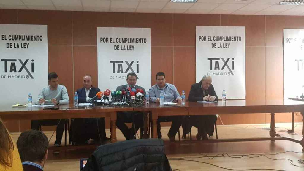 Comité de huelga del Taxi de Madrid.