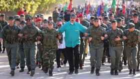 Maduro en un acto con las fuerzas armadas de Venezuela.