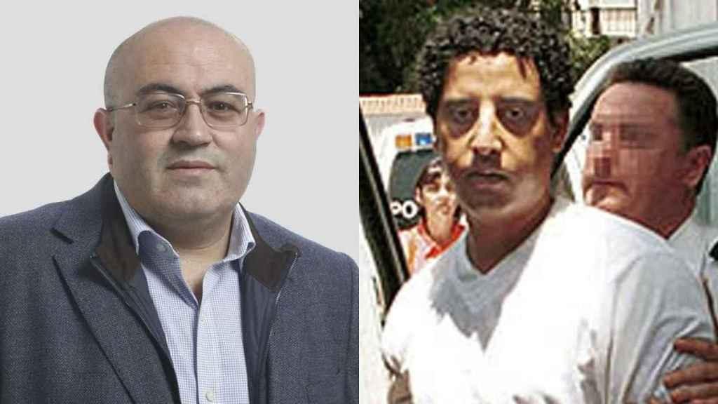 A la izquierda, Juan José Bonilla, abogado de 42 años y nuevo coordinador local de Vox en El Ejido (Almería). A la derecha, Cherki Hadij, de origen marroquí, a quien se condenó a 35 de cárcel por matar al padre de Bonilla y a otro agricultor.