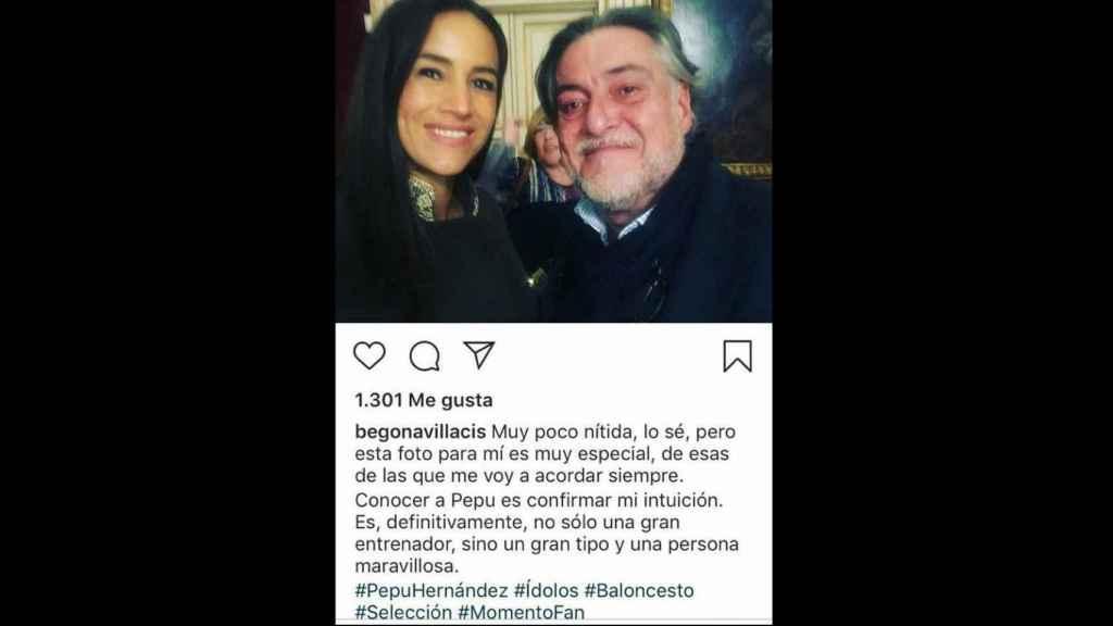 La imagen de Instagram de Villacís.