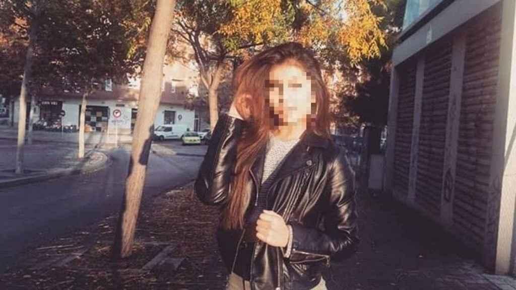 Kelly, de 17 años, poco antes de morir