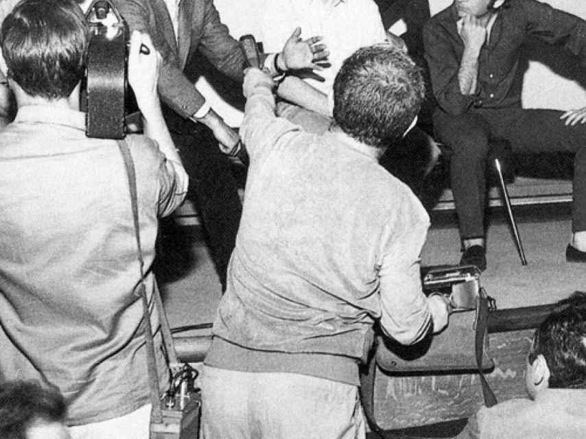 Claude Lelouch, Jean-Luc Godard, François Truffaut, Louis Malle y Roman Polanski en Cannes, en el 68.