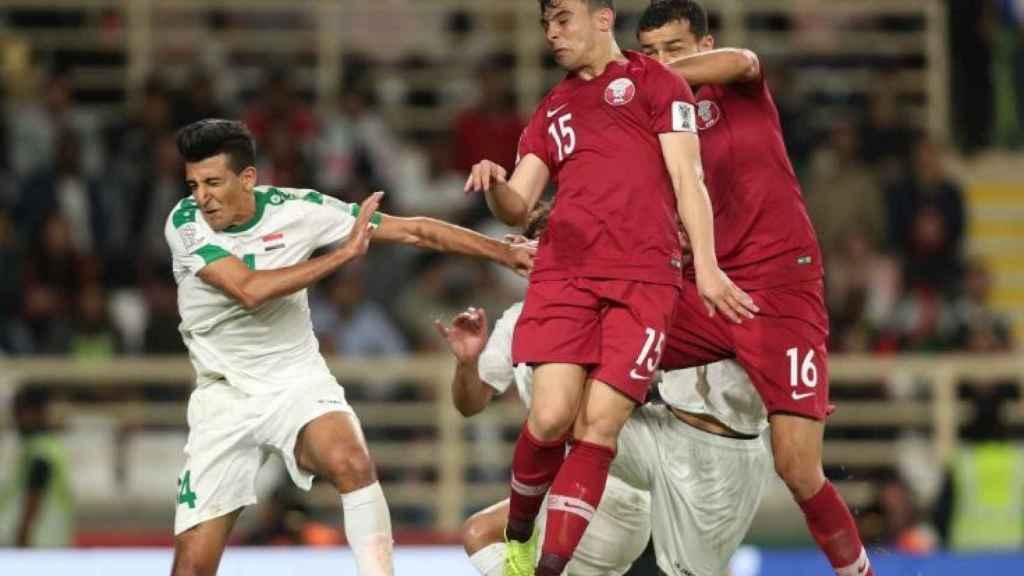 La selección de Qatar disputando la Copa de Asia. Foto: Twitter (@QFA)
