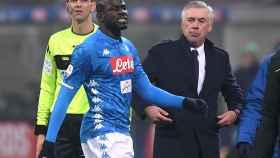 Koulibaly durante el Inter-Nápoles
