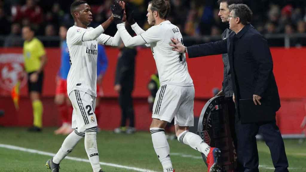 Gareth Bale sustituye a Vinicius ante el Girona