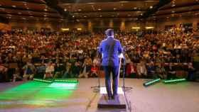 Santiago Abascal, presidente de Vox, en el acto del partido en Toledo.