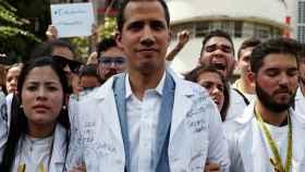Guaidó durante una manifestación en Caracas.