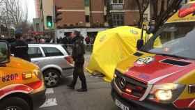 Lugar del accidente, en Madrid