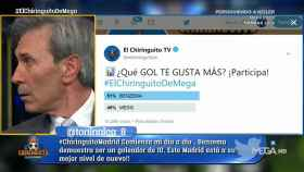 El 'Lobo' Carrasco se pica en 'El Chiringuito'. Foto: Twitter (@elchiringuitotv)