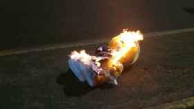 Imagen del Piolín quemado por los CDR.