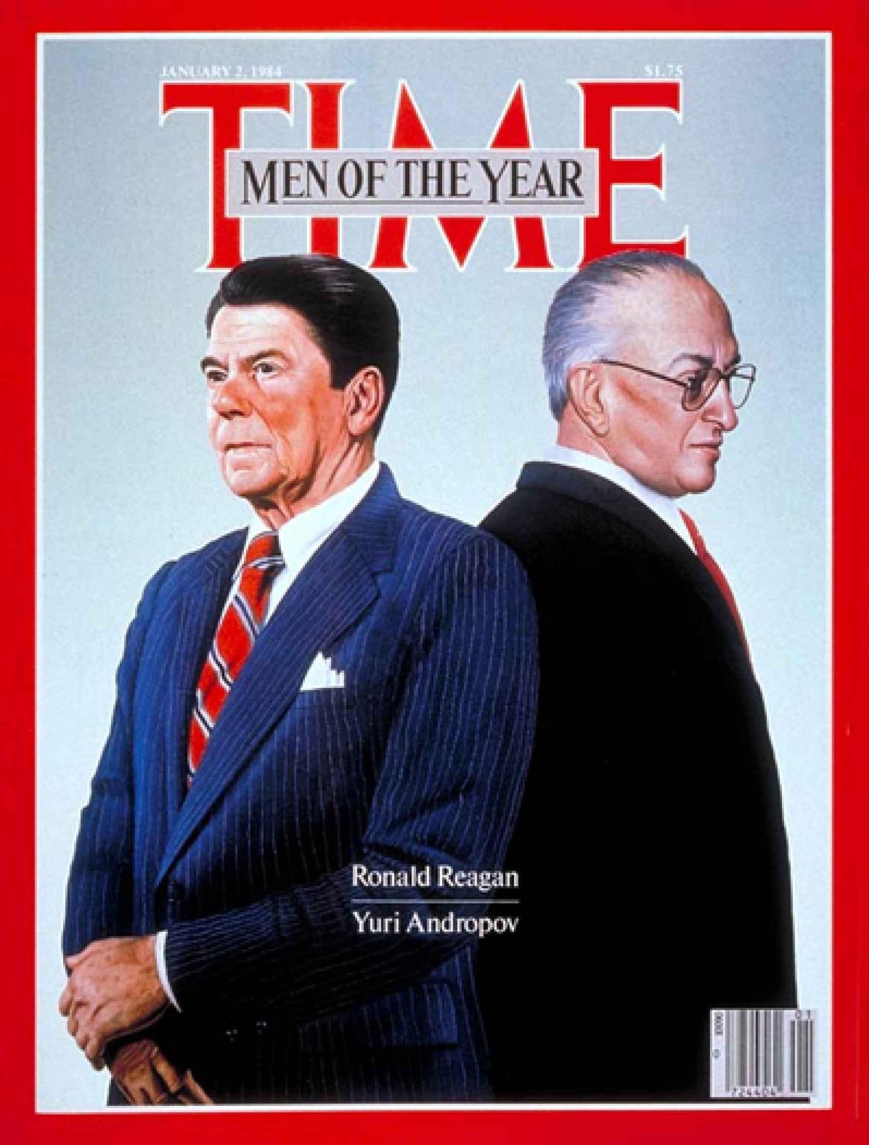 Primer ejemplar de 'Time' en 1984, con Ronald Reagan y Yuri Andropov en portada.