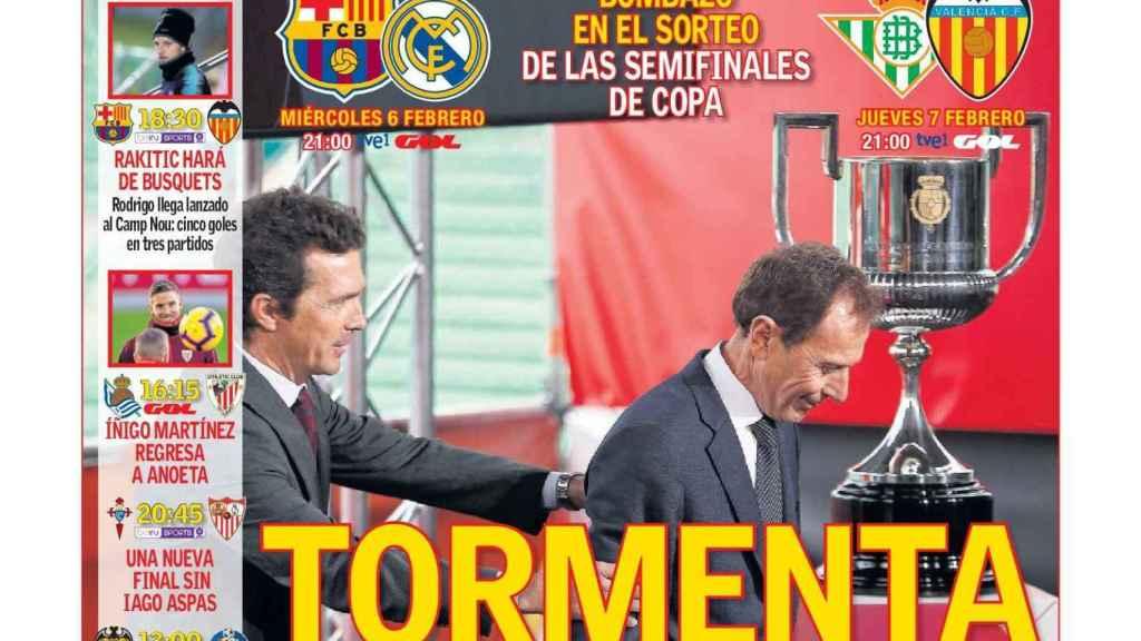 Portada del diario AS (02/02/2019)