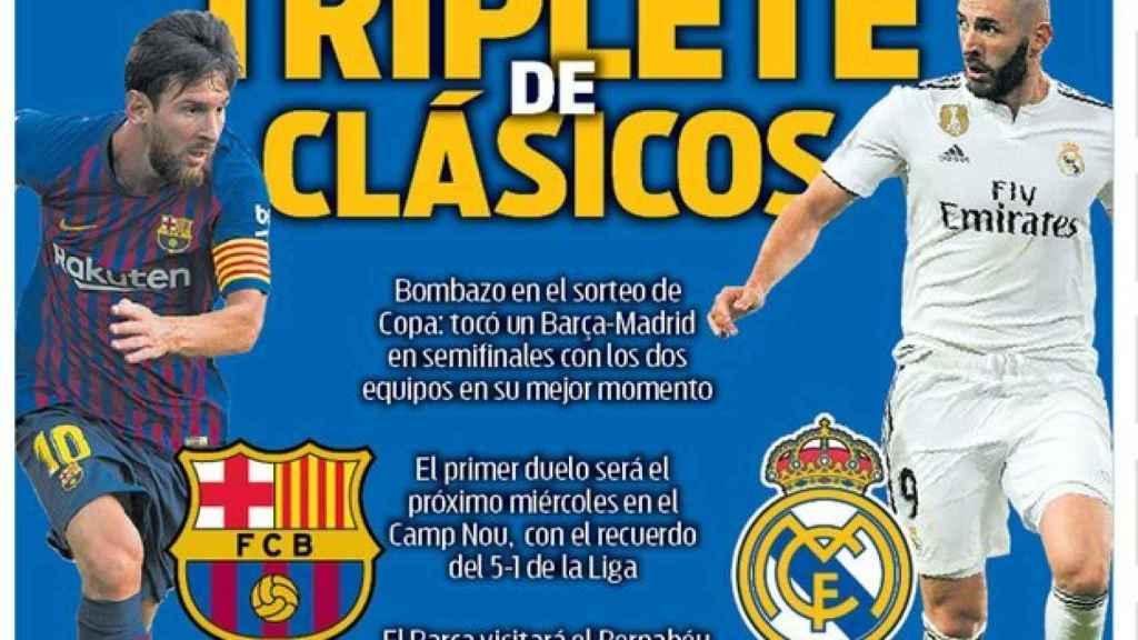 La portada del diario Sport (02/02/2019)